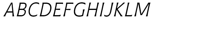 Plathorn Condensed Book Italic Font UPPERCASE