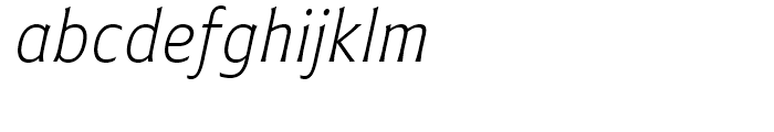 Plathorn Condensed Light Italic Font LOWERCASE