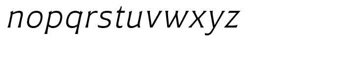 Plathorn Extended Book Italic Font LOWERCASE