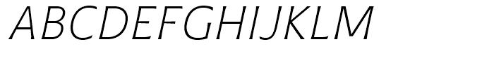 Plathorn Normal Light Italic Font UPPERCASE