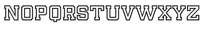 Player Outline Bold Font UPPERCASE