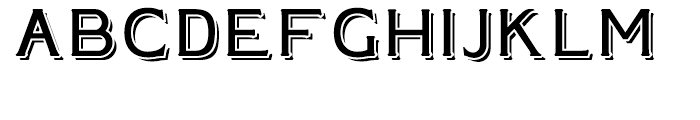 Plebia Shadowed Regular Font LOWERCASE
