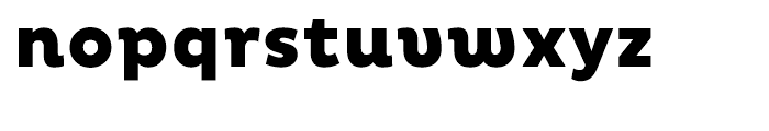 Pluto Heavy Font LOWERCASE
