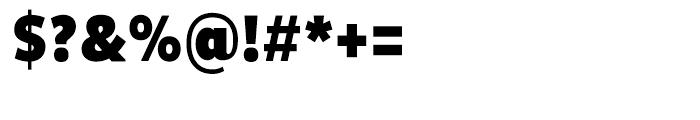 Pluto Sans Condensed Black Font OTHER CHARS