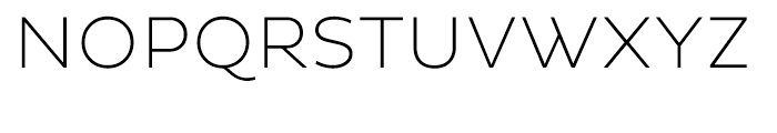 Pluto Sans ExtraLight Font UPPERCASE