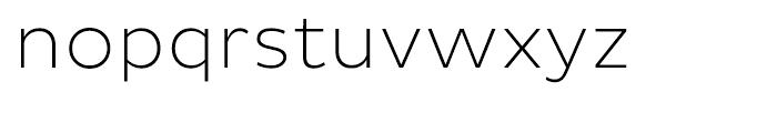 Pluto Sans ExtraLight Font LOWERCASE