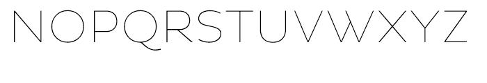 Pluto Sans Thin Font UPPERCASE