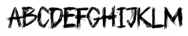 Plague Master Regular Font LOWERCASE