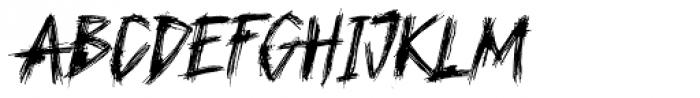 Plague Master Italic Font UPPERCASE