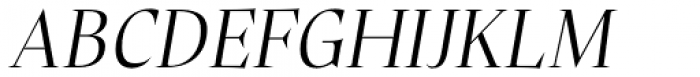 Plaisir Light Italic Font UPPERCASE