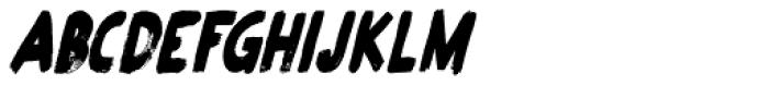 Plakkaat Condensed Italic Font UPPERCASE