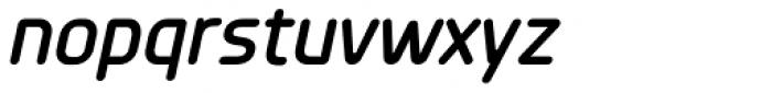 Planer DemiBold Italic Font LOWERCASE