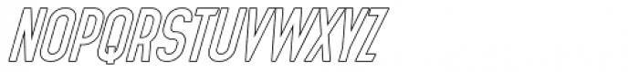Planina Outline Font UPPERCASE
