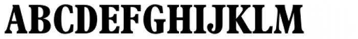 Plantin Headline MT Bold Cond Font UPPERCASE