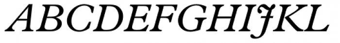 Plantin Italic Font UPPERCASE