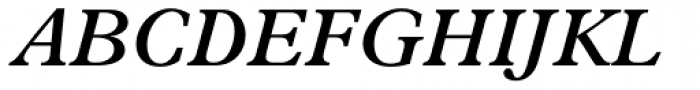 Plantin SemiBold Italic Font UPPERCASE