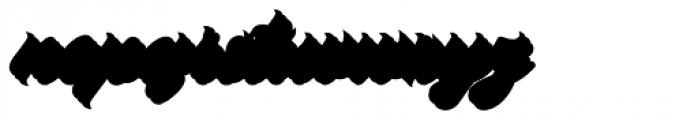 Platanos Shadow Font LOWERCASE