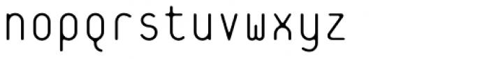 Platelet Thin Font LOWERCASE