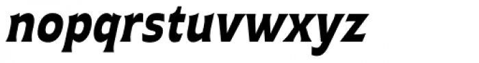 Plathorn Condensed Black Italic Font LOWERCASE