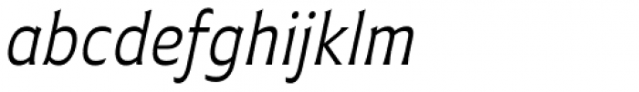 Plathorn Condensed Book Italic Font LOWERCASE