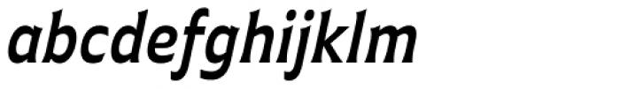 Plathorn Condensed Demi Italic Font LOWERCASE