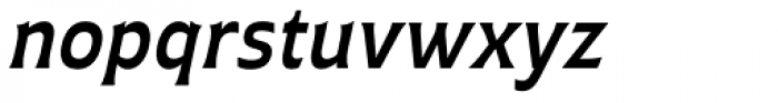 Plathorn Demi Italic Font LOWERCASE