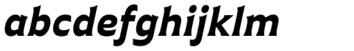 Plathorn Extended Black Italic Font LOWERCASE