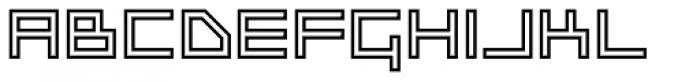 Platinum Beat BTN Outline Font UPPERCASE