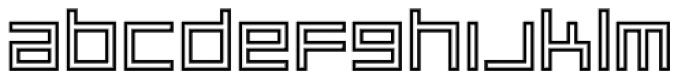 Platinum Beat BTN Outline Font LOWERCASE