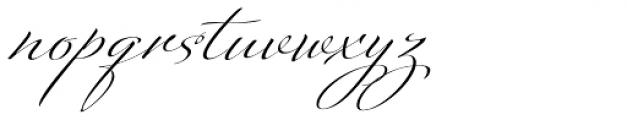 Platinus Script Pro Bold Font LOWERCASE