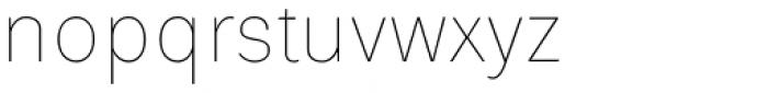 Platz Grotesk Regular Thin Font LOWERCASE