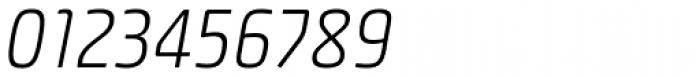Plau Light Italic Font OTHER CHARS