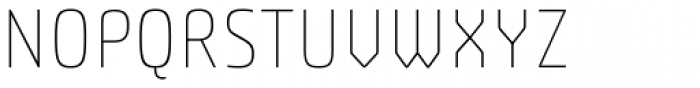 Plau Thin Font UPPERCASE