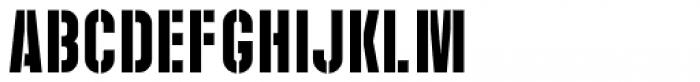 Play Day Stencil JNL Regular Font LOWERCASE