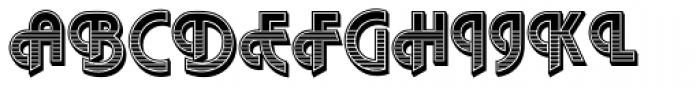 Plaza SH Deco Font UPPERCASE