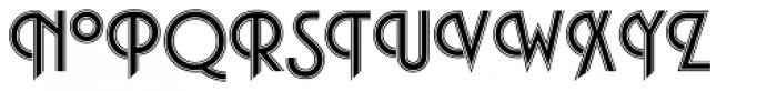 Plaza SH Inline Font UPPERCASE