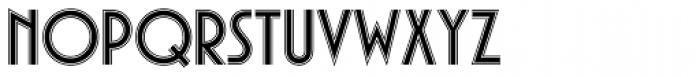 Plaza SH Inline Font LOWERCASE