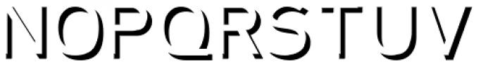 Plebia Embossed Font UPPERCASE