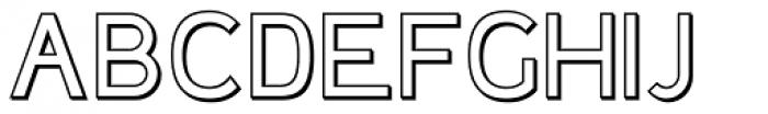 Plebia Outline Font UPPERCASE