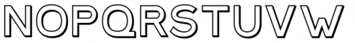 Plebia Outline Font LOWERCASE