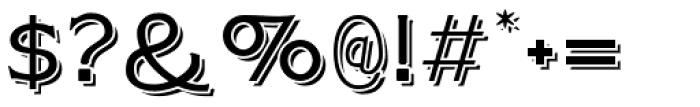 Plebia Shadowed Font OTHER CHARS