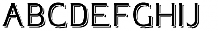 Plebia Shadowed Font UPPERCASE