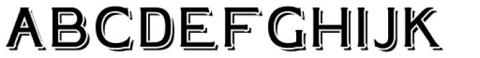 Plebia Shadowed Font LOWERCASE
