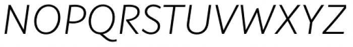 Plusquam Sans Light Italic Font UPPERCASE