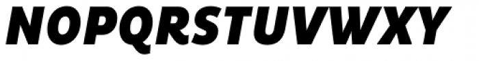 Pluto Condensed Black Italic Font UPPERCASE