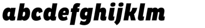 Pluto Condensed Black Italic Font LOWERCASE