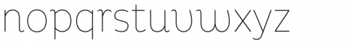 Pluto Condensed Thin Font LOWERCASE