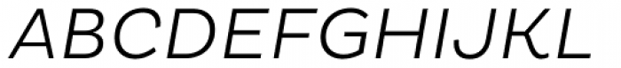 Pluto Light Italic Font UPPERCASE
