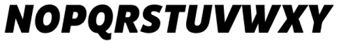 Pluto Sans Cond Black Italic Font UPPERCASE