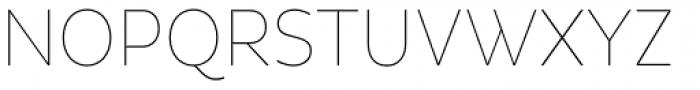 Pluto Sans Cond Thin Font UPPERCASE